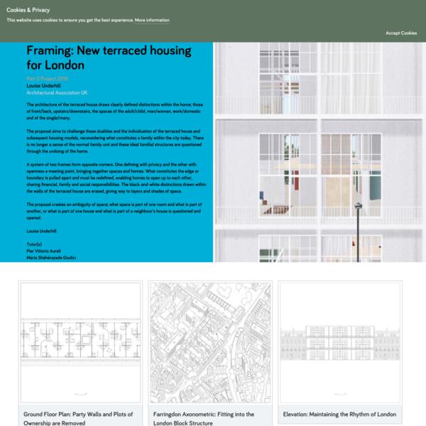 Framing: New terraced housing for London