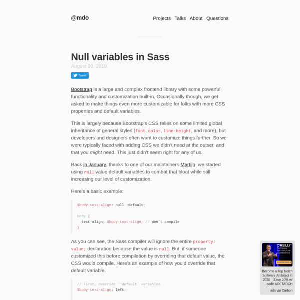 Null variables in Sass