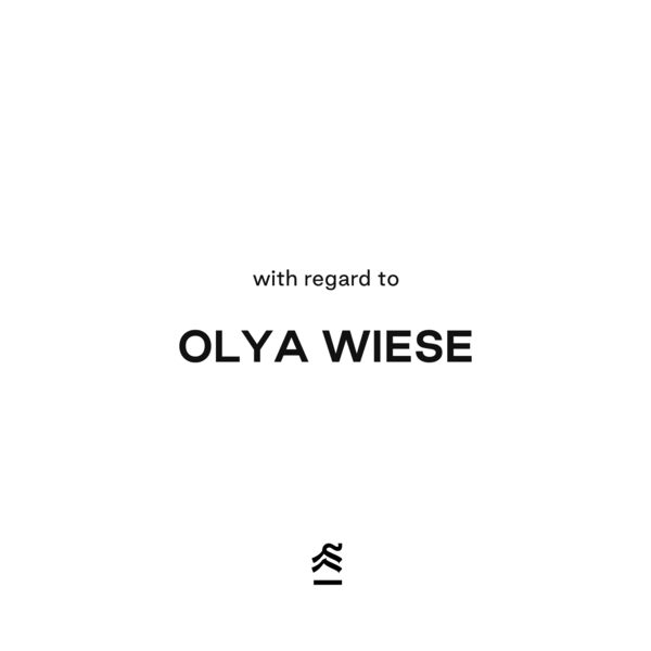 Our talk with Olya Wiese, the person who started Skyscraper collection.