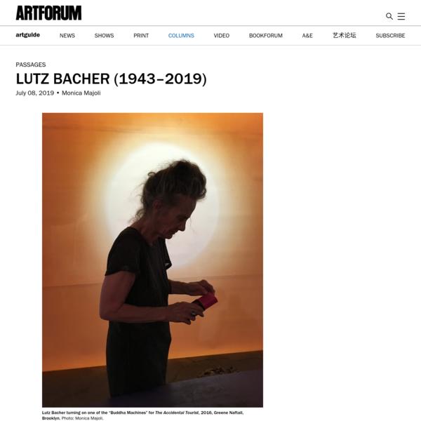 Lutz Bacher (1943-2019)