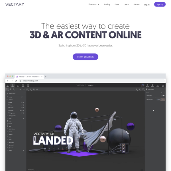 Vectary - The Easiest Online 3D Design and 3D Modeling Software