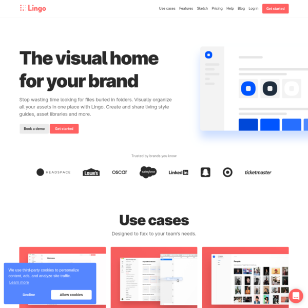 Lingo - The visual home for your brand