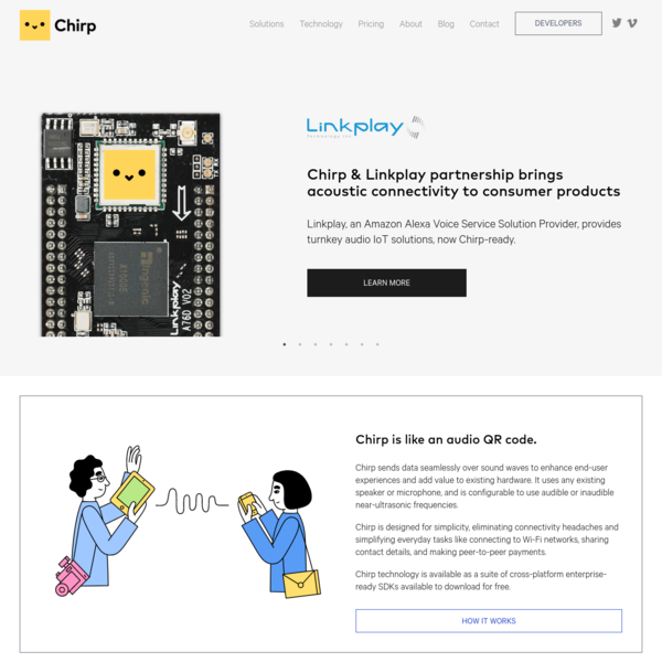 Chirp | Send data with sound