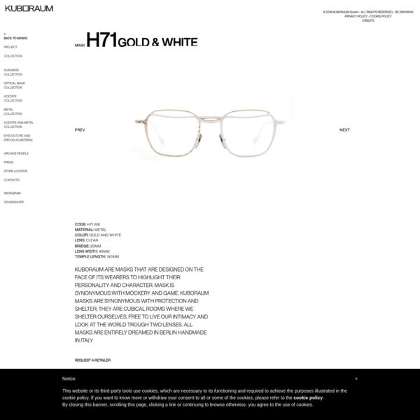GOLD & WHITE | Kuboraum