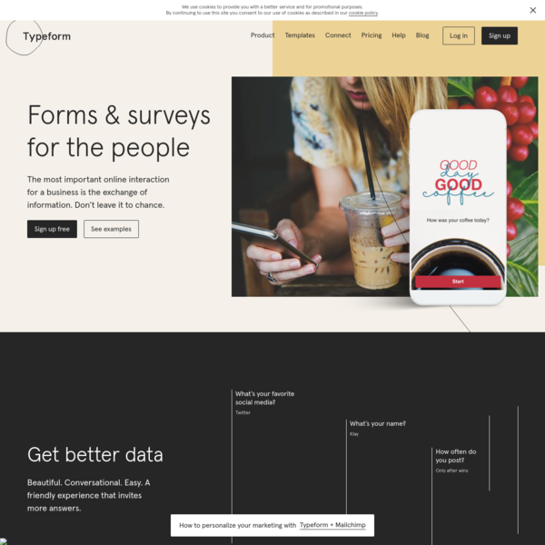 The future of forms is here   Typeform