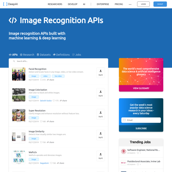 Image Recognition APIs
