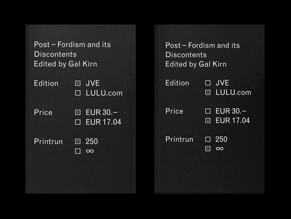 Post-Fordism and its Discontents Edited by Gal Kirn Published by Jan... - Work on Display