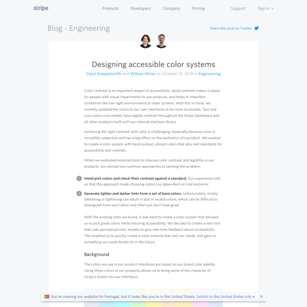 Designing accessible color systems