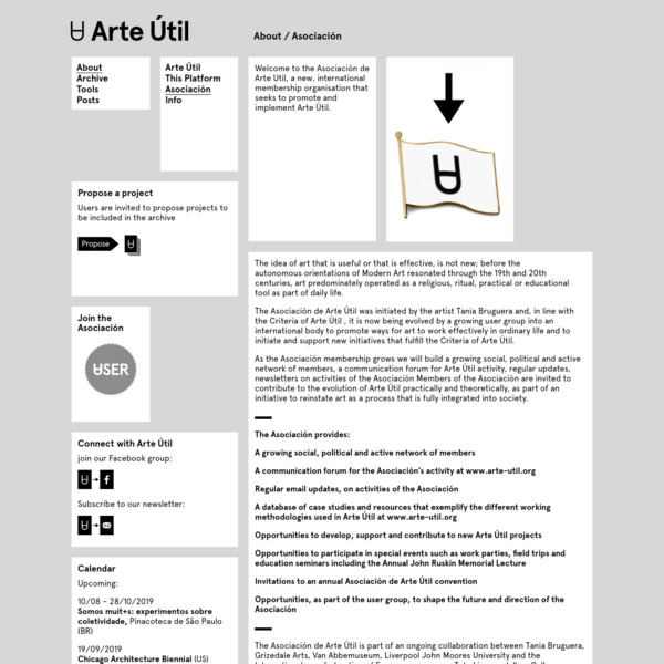 Arte Útil / Asociación