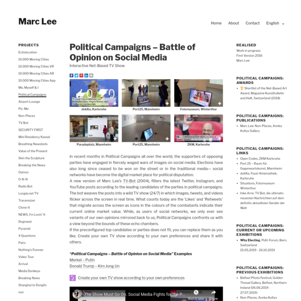 Political Campaigns - Battle of Opinion on Social Media by artist Marc Lee
