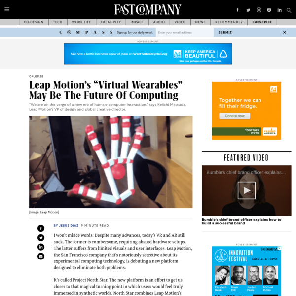 """Leap Motion's """"Virtual Wearables"""" May Be The Future Of Computing"""
