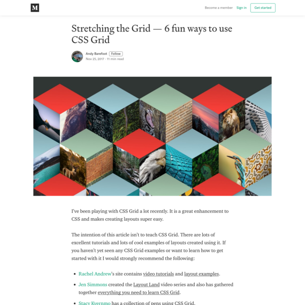 Stretching the Grid - 6 fun ways to use CSS Grid