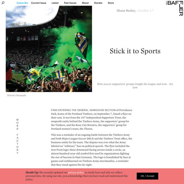 Stick it to Sports | Shane Burley