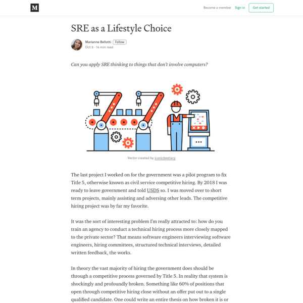 SRE as a Lifestyle Choice