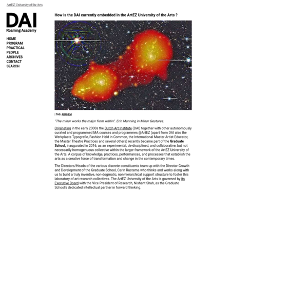 How is the DAI currently embedded in the ArtEZ University of the Arts ?