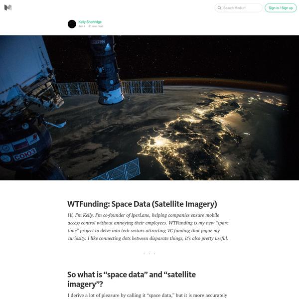 WTFunding: Space Data (aka Satellite Imagery)