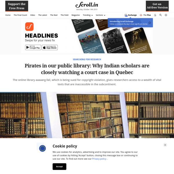 Pirates in our public library: Why Indian scholars are closely watching a court case in Quebec