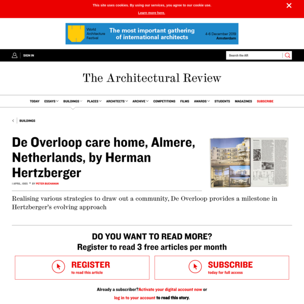 De Overloop care home, Almere, Netherlands, by Herman Hertzberger