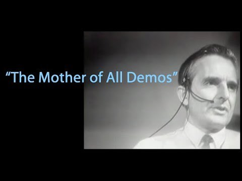 """1968 """"Mother of All Demos"""" by SRI's Doug Engelbart and Team"""
