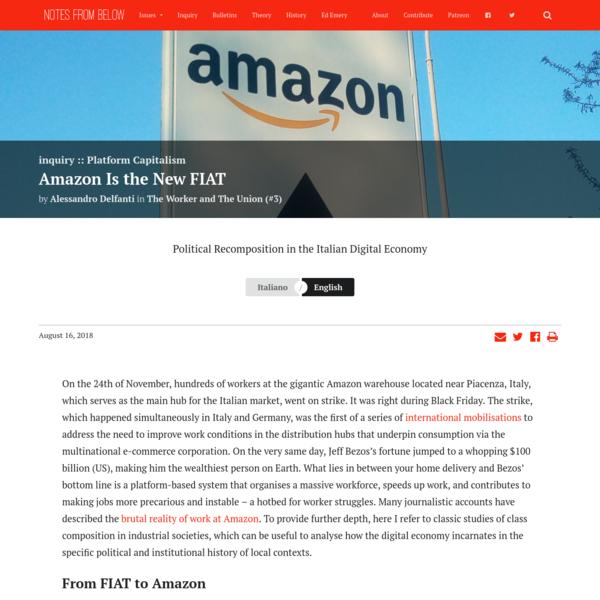 Amazon Is the New FIAT