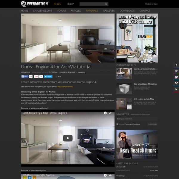 Unreal Engine 4 for ArchViz tutorial