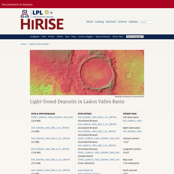 HiRISE | DTM: Light-Toned Deposits in Ladon Valles Basin