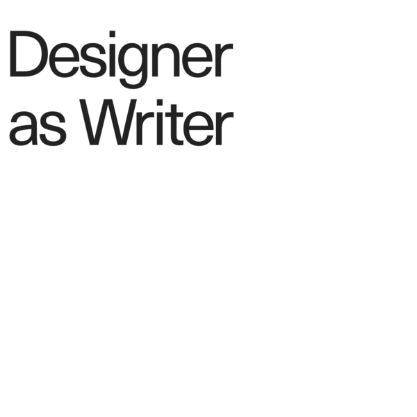 Designer as Writer - Page 1