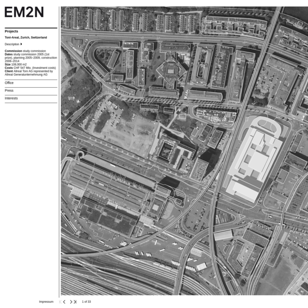 EM2N - Projects - Toni-Areal, Zurich, Switzerland