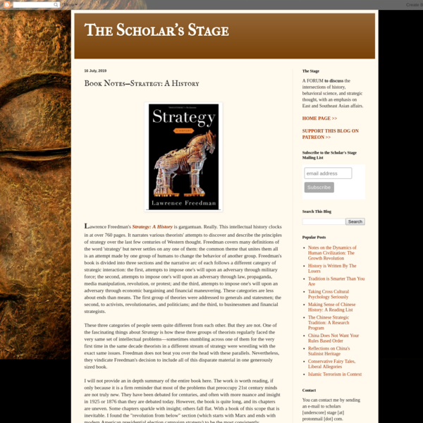 Book Notes-Strategy: A History