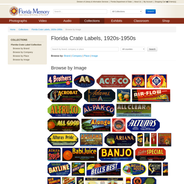 Florida Crate Labels, 1920s-1950s