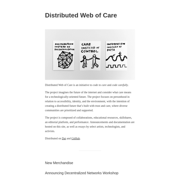 Distributed Web of Care