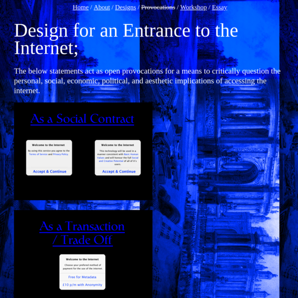 Design for An Entrance to the Internet