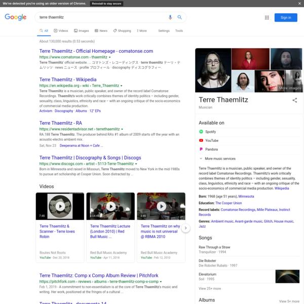 terre thaemlitz - Google Search