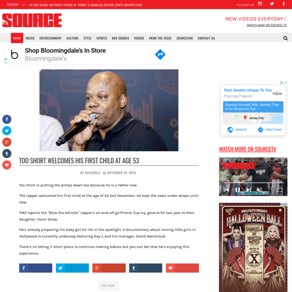 Too Short Welcomes His First Child at Age 53 | The Source