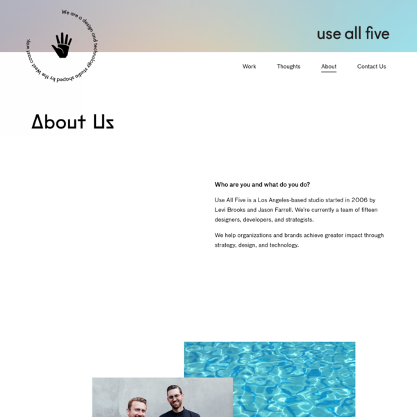 About Use All Five   Los Angeles Design Studio