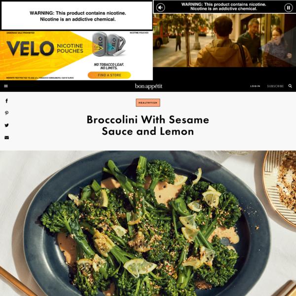 Broccolini With Sesame Sauce and Lemon Recipe