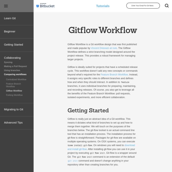 Gitflow Workflow | Atlassian Git Tutorial