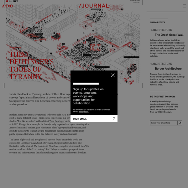 A/D/O by MINI | Theo Deutinger's Tools of Tyranny