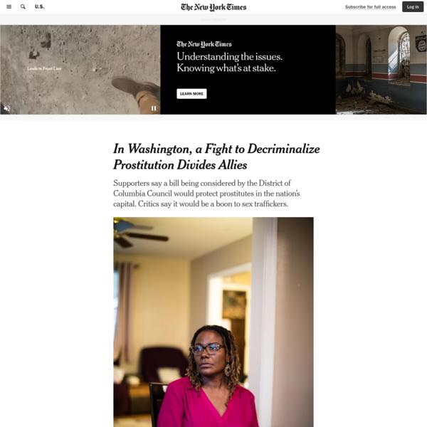 In Washington, a Fight to Decriminalize Prostitution Divides Allies