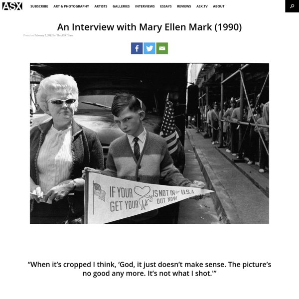 An Interview with Mary Ellen Mark (1990)