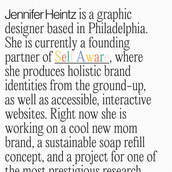 Jennifer Heintz - Graphic Designer