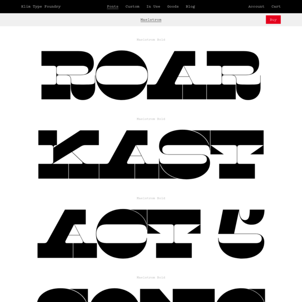 Klim Type Foundry · Maelstrom Fonts