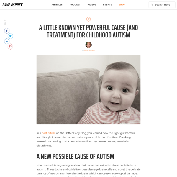 Glutathione for Autism: A Little Known Treatment for Autism?