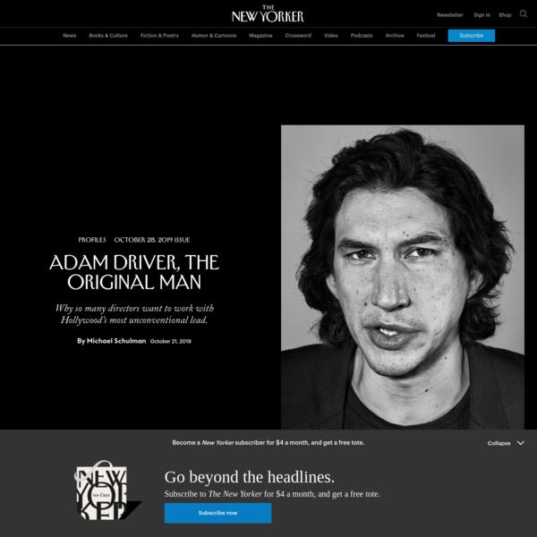 Adam Driver, the Original Man | The New Yorker