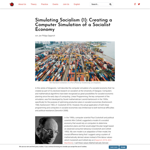 Simulating Socialism (1): Creating a Computer Simulation of a Socialist Economy - Designing History