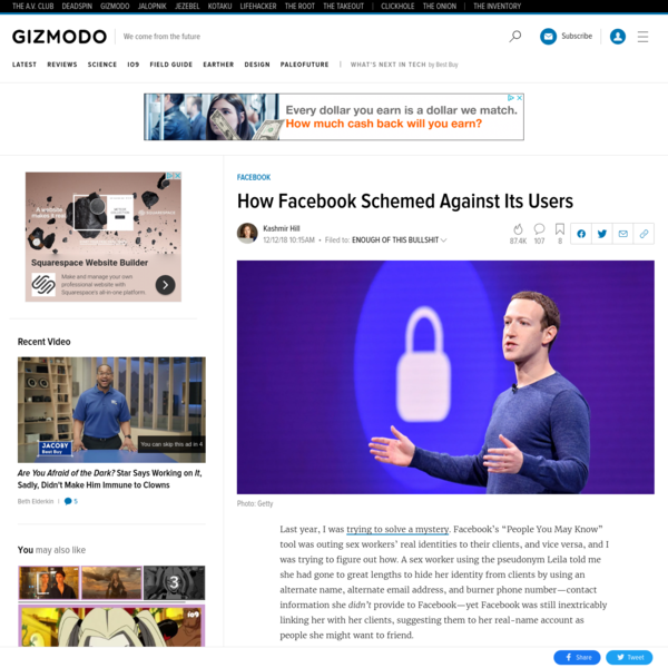 How Facebook Schemed Against Its Users