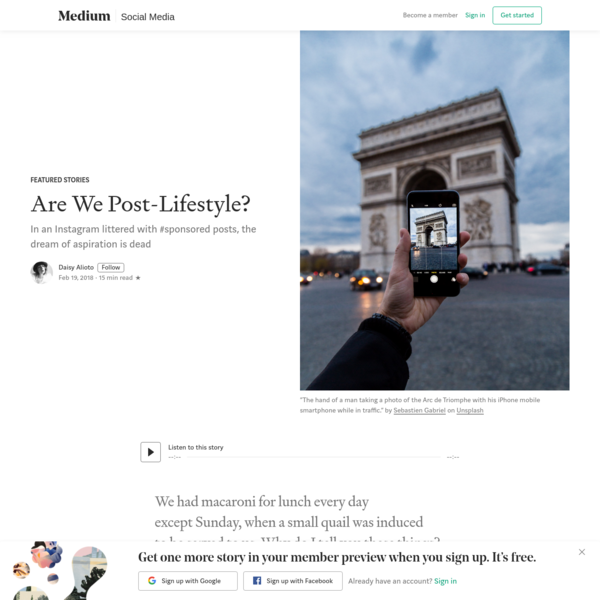 Are We Post-Lifestyle?