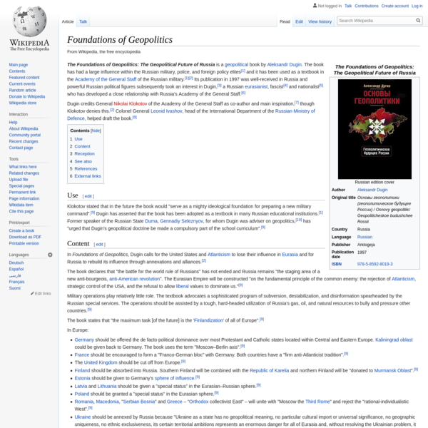 Foundations of Geopolitics - Wikipedia