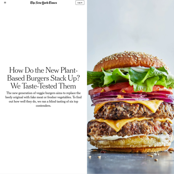 How Do the New Plant-Based Burgers Stack Up? We Taste-Tested Them