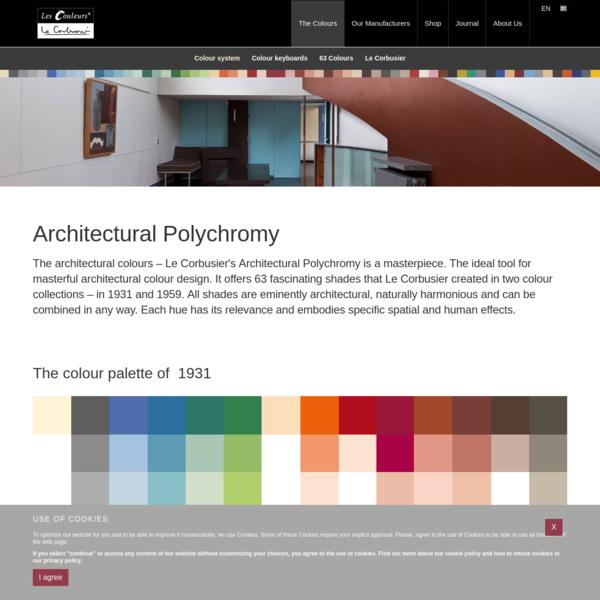 Le Corbusier´s Colour system - The Architectural Colour Palettes